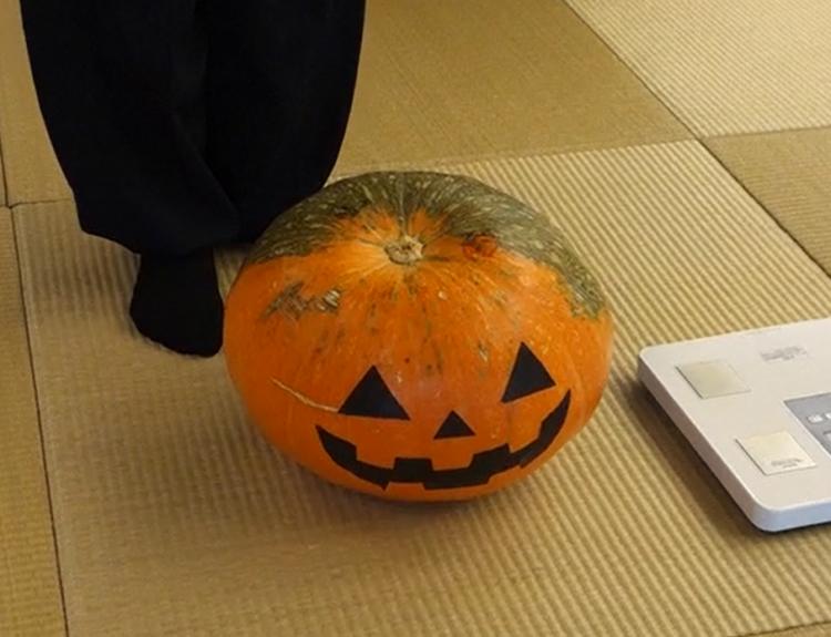 大かぼちゃ重量当てクイズ 結果発表